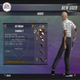 Tiger Woods PGA Tour 2004 PlayStation 2 Equipping the player.<br>The emulator doesn't display skin very well but look at all the kit! 24 kinds of shoe, 85 kinds of pants, 149 shirts most of which, naturally, have to be unlocked
