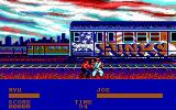 Street Fighter DOS Fighting in a trainyard... (EGA)