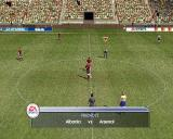 FIFA Soccer 2002: Major League Soccer PlayStation 2 The kick off of a friendly game using the default camera viewpoint