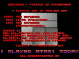 Ausbruch Atari ST Menu / credits screen