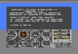 Flight Simulator II Commodore 64 The opening screen allows you to tune the simulator toward your technology—some people still hadn't bought color televisions yet, and their Commodore 64s were hooked to black-and-white TV sets.