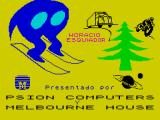 Horace Goes Skiing ZX Spectrum Loading Screen (Investronica S.A.).