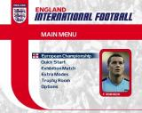 England International Football PlayStation 2 The game's main menu<br>The player is in a revolving window, a new player is revealed each half turn