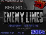 Behind... Enemy Lines Arcade Title screen