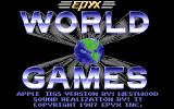 World Games Apple IIgs Title screen
