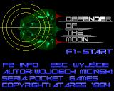 Defender of the Moon Amiga Title screen