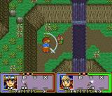 Ruin Arm SNES Fighting a pesky guy near a waterfall
