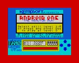 Android One: The Reactor Run ZX Spectrum Select skill level.