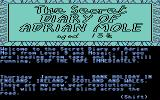 The Secret Diary of Adrian Mole Aged 13¾ Commodore 64 Title screen