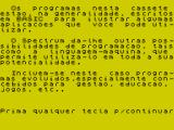 Horizons: Software Starter Pack ZX Spectrum Stop the tape. Introduction to the compilation (Portuguese version).