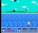 Panic Restaurant NES Bonus mini-game in which you need to catch fish for points, but avoid the bombs