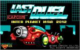 Last Duel: Inter Planet War 2012 DOS Title Screen (EGA).