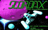 Slordax: The Unknown Enemy DOS Title screen