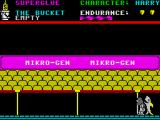 Everyone's A Wally (The Life of Wally) ZX Spectrum Chase screen.