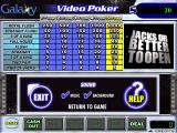 Galaxy Video Poker Windows The in-game options menu