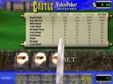Castle Video Poker Windows The player has placed their bet and the cards are being dealt. A chance to use anther sword theme graphic