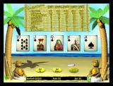 Tropical Poker Windows The initial game screen