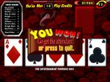 Raw Poker Windows Game Over!<br>Here the player has completed thirteen hands so the game ends even though there are ten game credits remaining