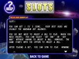Galaxy Slots Windows The first screen of the game's scrollable, in-game, help file