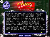 Craps Deluxe Windows A section of the in-game, scrollable, help file