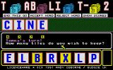 Tablit 2 Atari ST Ok, lets see how many letters I should keep