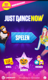 Just Dance Now Android Main menu (device screen - Dutch version)