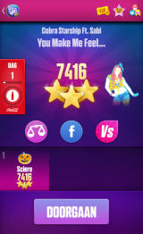 Just Dance Now Android Songs results (device screen - Dutch version)