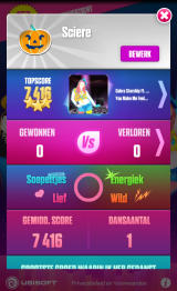 Just Dance Now Android Profile (device screen - Dutch version)