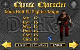 DeathKeep Windows The third of the three characters you can choose from: the male half-elf fighter-mage