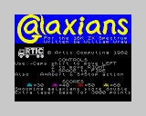 Galaxians ZX Spectrum Title screen (not loading screen).
