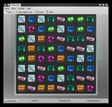 "KDiamond Linux Difficulty ""Very Hard"": very small board, fewer options to find three matching tiles"