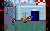 Double Dragon Trilogy Android <i>Double Dragon 2</i>: throwing a crate.