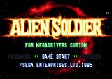 Alien Soldier Genesis Title Screen