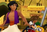 Kingdom Hearts: Re:Chain of Memories PlayStation 2 Helping Aladdin