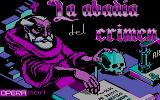 La Abadía del Crimen DOS Title Screen (CGA Monochrome)