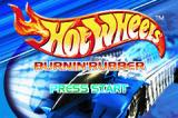 Hot Wheels: Burnin' Rubber Game Boy Advance Title screen