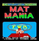 Mat Mania Arcade Title screen (U.S. version), the name of the announcer is Cory