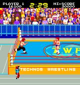 Mat Mania Arcade Second opponent Karate Fighter, in the Japanese version T.W.A. stands for Technos Wrestling Association