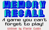 Memory Recall Atari ST Title screen