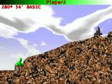 Mortar Atari ST A shot has two parameters: it's strength and the angle of the cannon. A third uncontrollable parameter is the wind