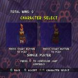 TY the Tasmanian Tiger 2: Bush Rescue PlayStation 2 In addition to the main game there's also a Cart Racing option. This is the character selection screen