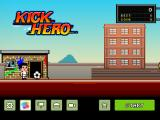 Kick Hero iPad Title and main menu