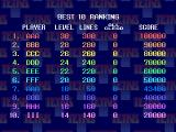 The Tetris PlayStation High scores