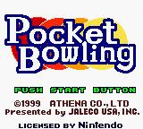 Pocket Bowling Game Boy Color Title screen (US).