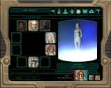Star Wars: Knights of the Old Republic II - The Sith Lords Windows Party menu. Over the course of the game you'll recruit some colorful characters