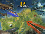 Talonsoft's 12 O'Clock High: Bombing the Reich Windows Title screen with options