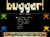 Bugger! Atari ST Title screen and main menu