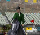 Athens 2004 PlayStation 2 Practicing the show jumping event. The horse has just refused and this triggers a decent little cut scene as the rider repositions to re-attempt the jump