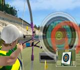 Athens 2004 PlayStation 2 Archery is a women only event<br>This is a practice session. The left stick is used to keep the sight, which wanders around the screen, on the target