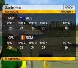 Athens 2004 PlayStation 2 Competing in the games at archery<br>After a good start the AI opponent beat us